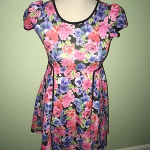 D Signed Girls Floral Dress